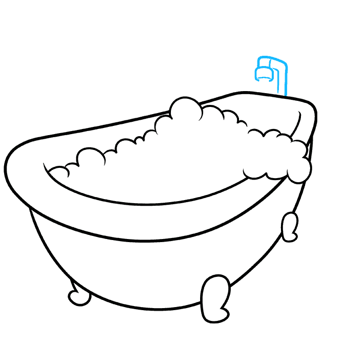 How to Draw a Bubble Bath Step 05