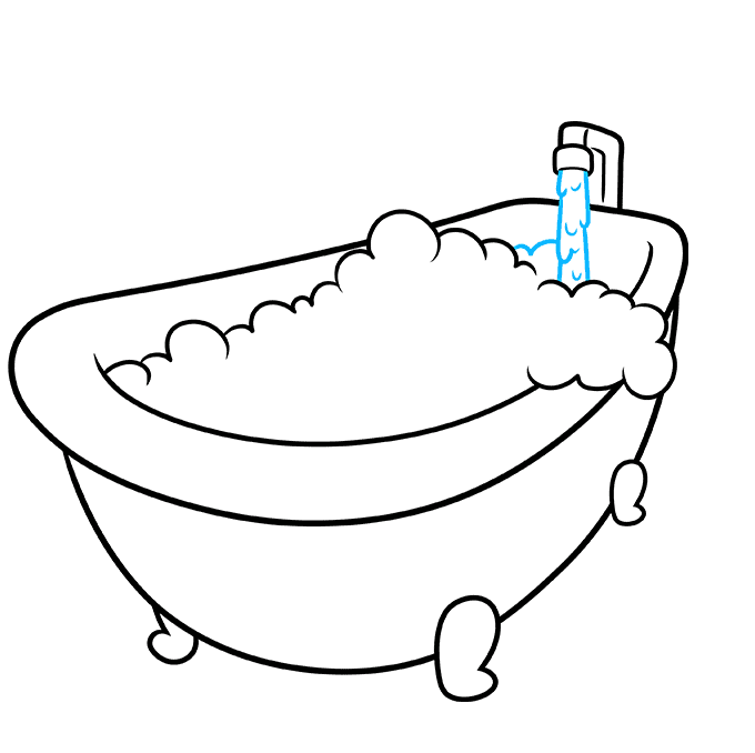 How to Draw a Bubble Bath Step 06