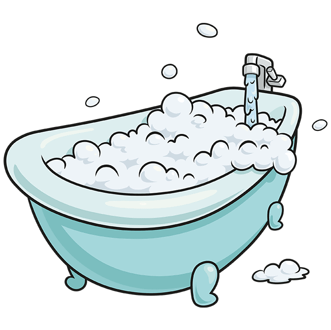How to Draw Bubble Bath: Step 10