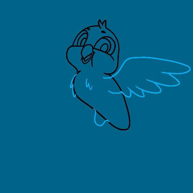 How to Draw a Cartoon Bird Step 06