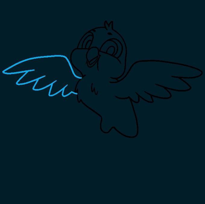 How to Draw a Cartoon Bird Step 07