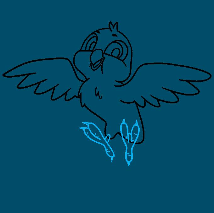 How to Draw a Cartoon Bird Step 08