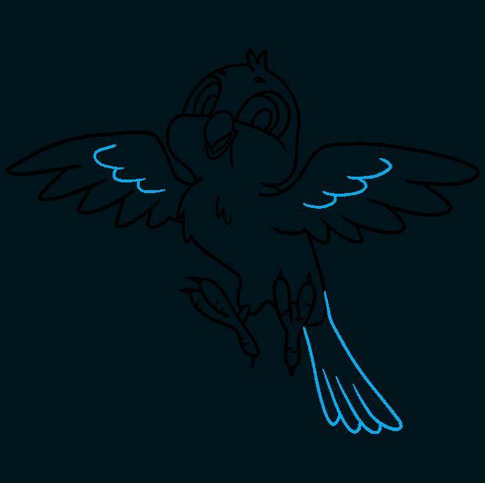 How to Draw a Cartoon Bird Step 09