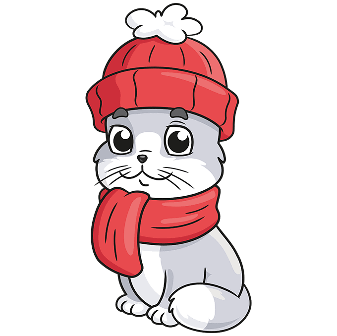 How to Draw a Cat in Clothes Step 10