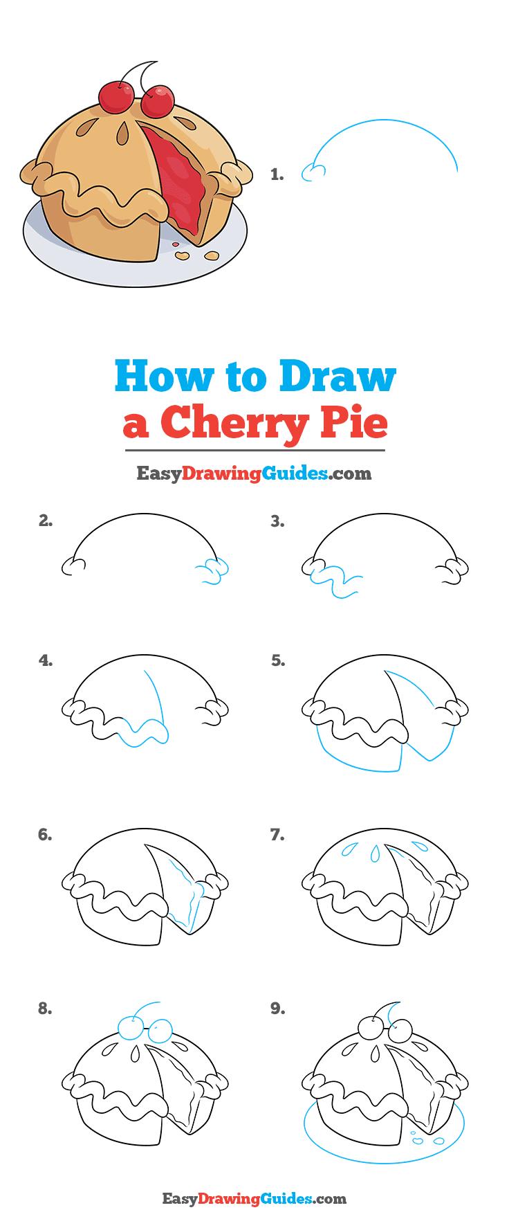 How to Draw Cherry Pie