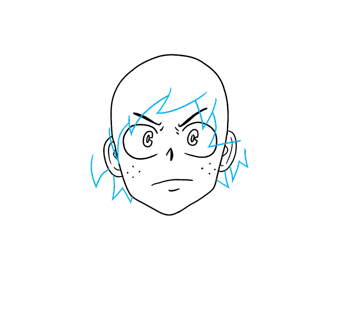 How to Draw Deku from My Hero Academia: Step 3