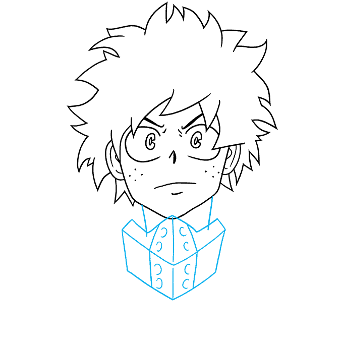 How to Draw Deku from My Hero Academia: Step 5