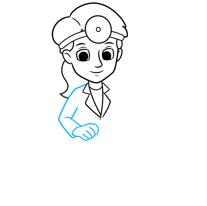 How to Draw Dentist: Step 5