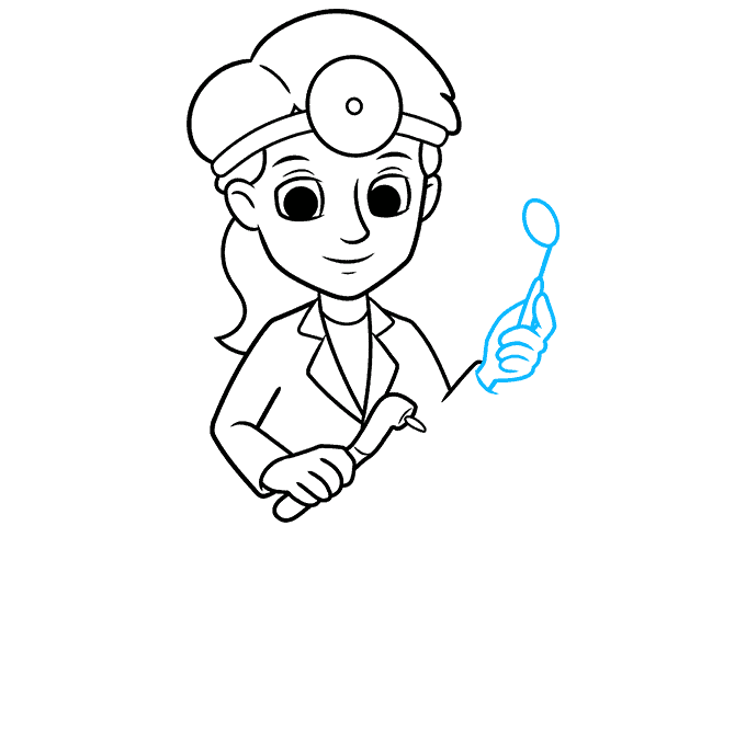 How to Draw Dentist: Step 7