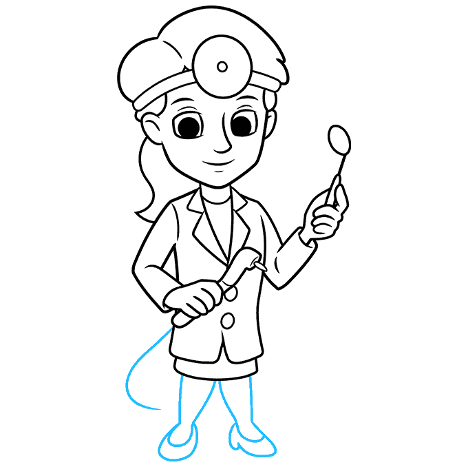 How to Draw Dentist: Step 9