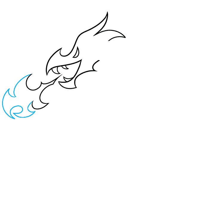 How to Draw a Dragon Tattoo Step 04