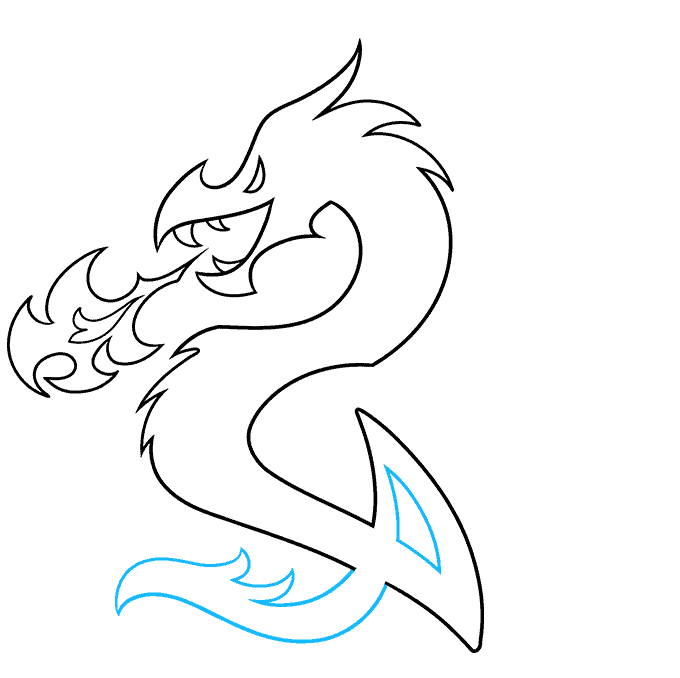 How to Draw a Dragon Tattoo Step 07