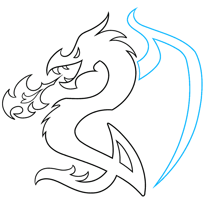 How to Draw a Dragon Tattoo Step 08