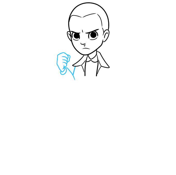 How to Draw Eleven from Stranger Things Step 04
