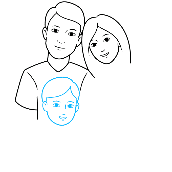 How to Draw Family: Step 4