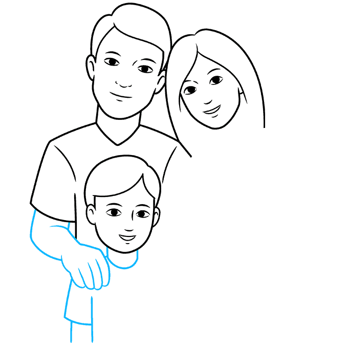 How to Draw Family: Step 5