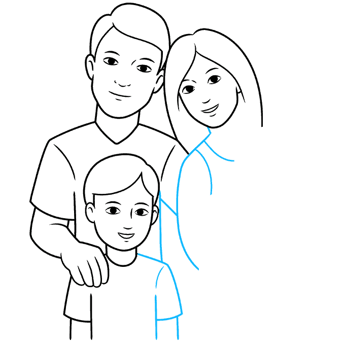 How to Draw Family: Step 6