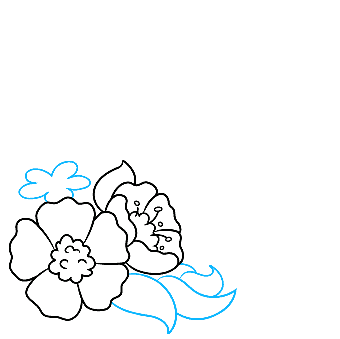 How to Draw a Floral Design Step 04