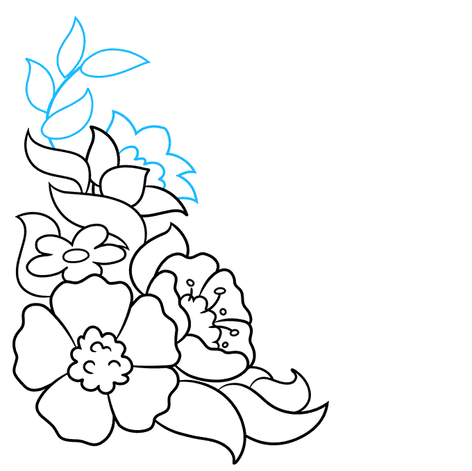 How to Draw a Floral Design Step 06