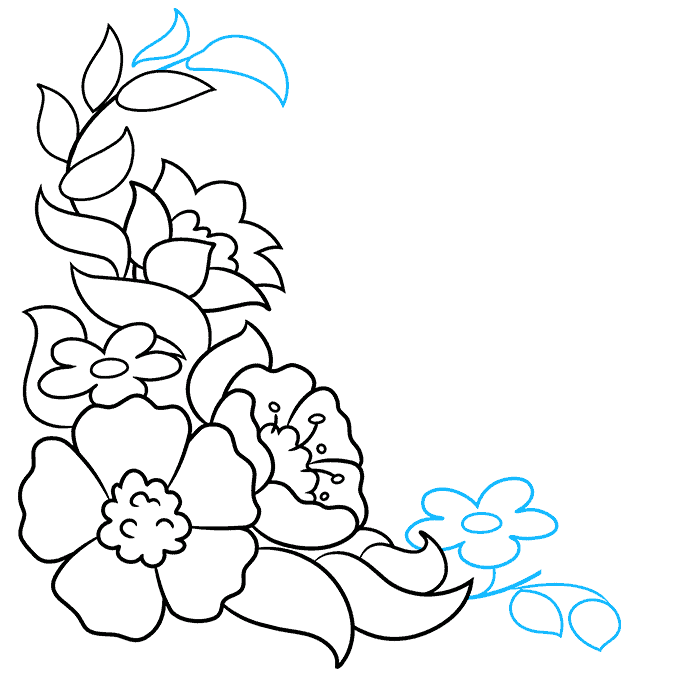 How to Draw a Floral Design Step 07