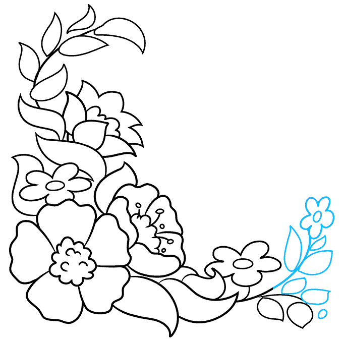 How to Draw a Floral Design Step 08