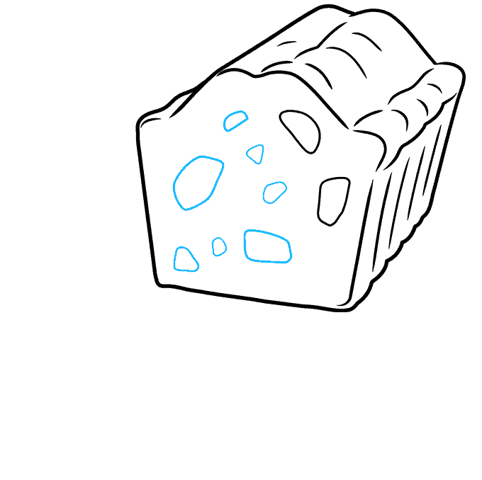 How to Draw a Fruitcake Step 05