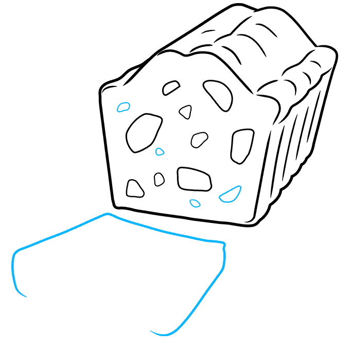 How to Draw a Fruitcake Step 06