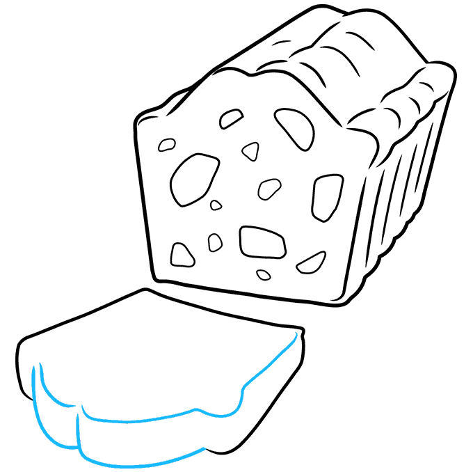 How to Draw a Fruitcake Step 07
