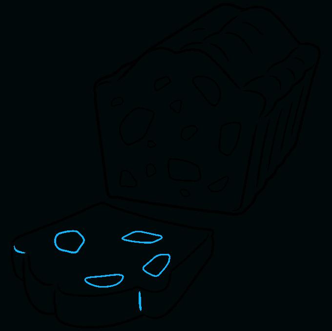 How to Draw a Fruitcake Step 08