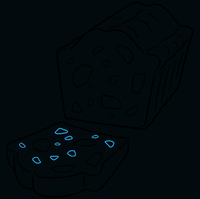 How to Draw a Fruitcake Step 09