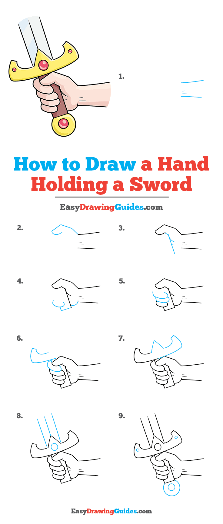 How to Draw Hand Holding a Sword