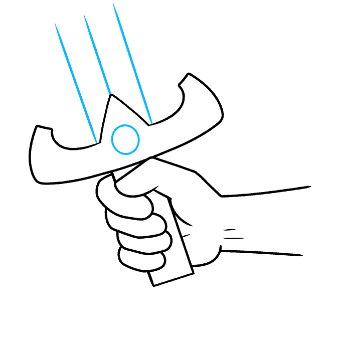 How to Draw Hand Holding a Sword: Step 8