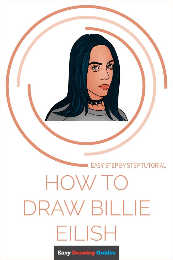 How to Draw Billie Eilish Pinterest Image