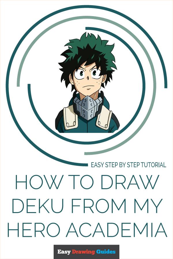 How to Draw Deku from My Hero Academia Pinterest Image