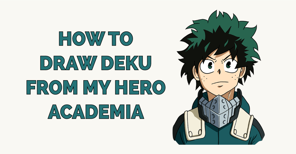 How to Draw Deku from My Hero Academia Featured Image