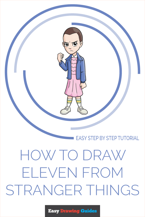 How to Draw Eleven from Stranger Things Pinterest Image