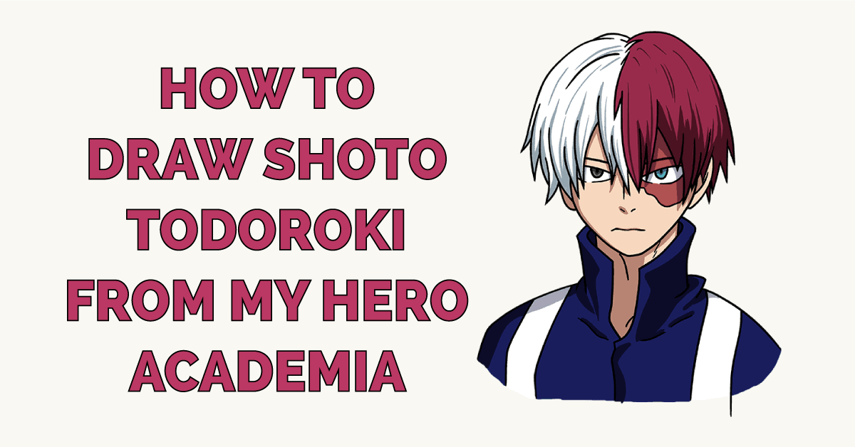 How to Draw Shoto Todoroki from My Hero Academia Featured Image