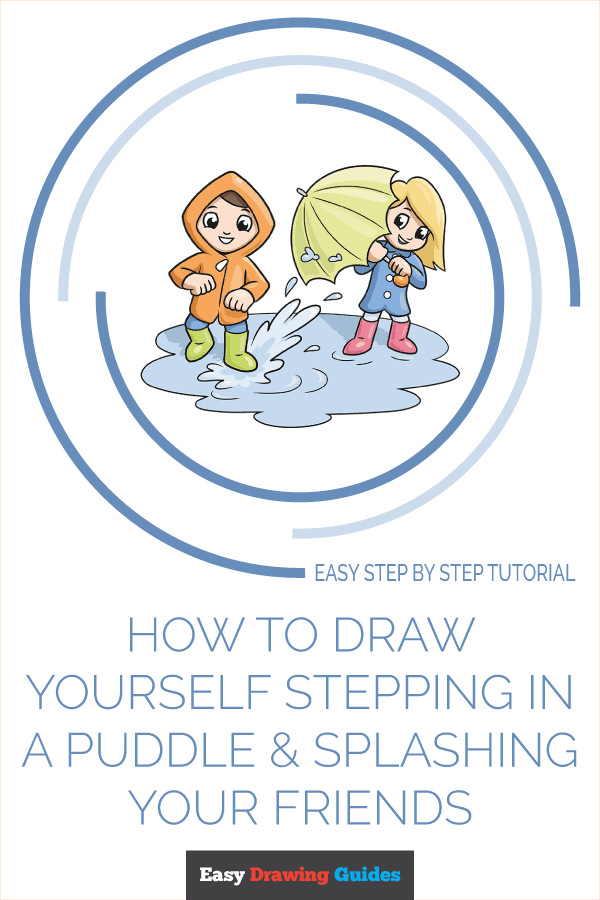 How to Draw Yourself Stepping in a Puddle and Splashing your Friends | Share to Pinterest