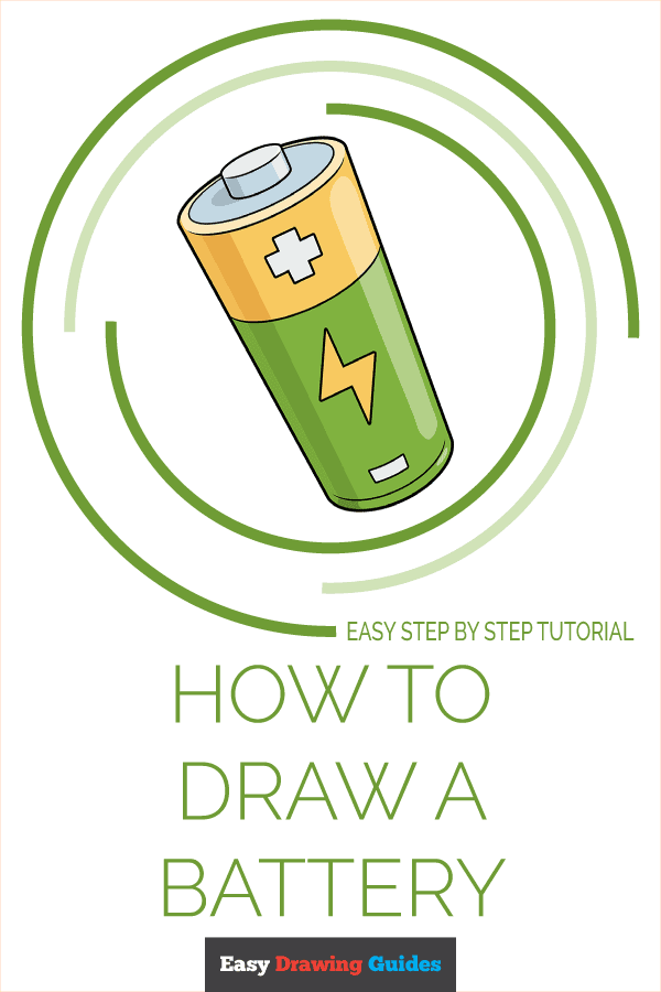 How to Draw Battery | Share to Pinterest