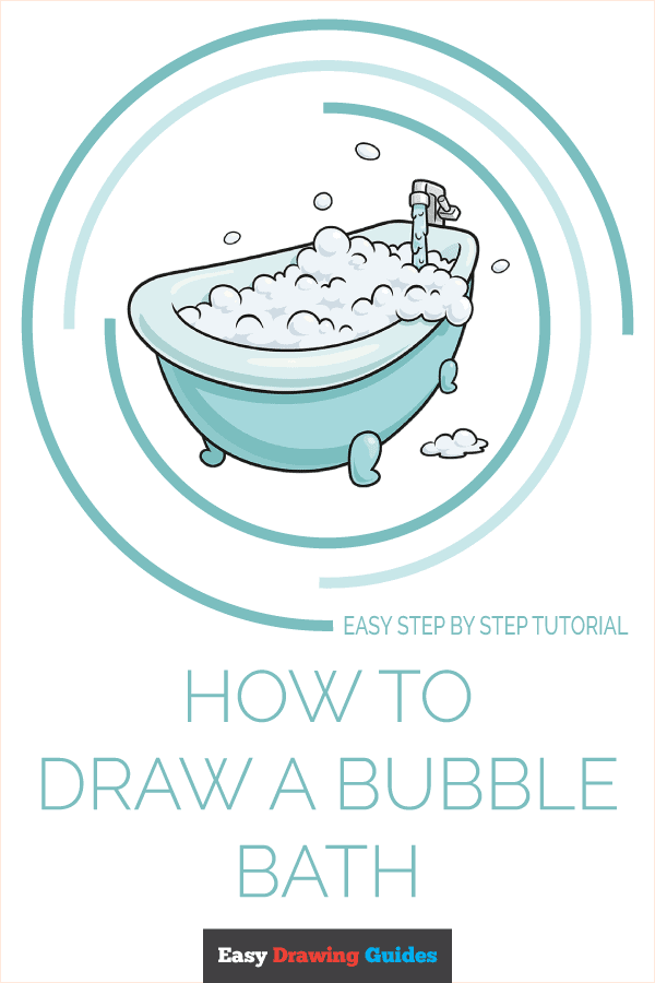How to Draw a Bubble Bath Pinterest Image