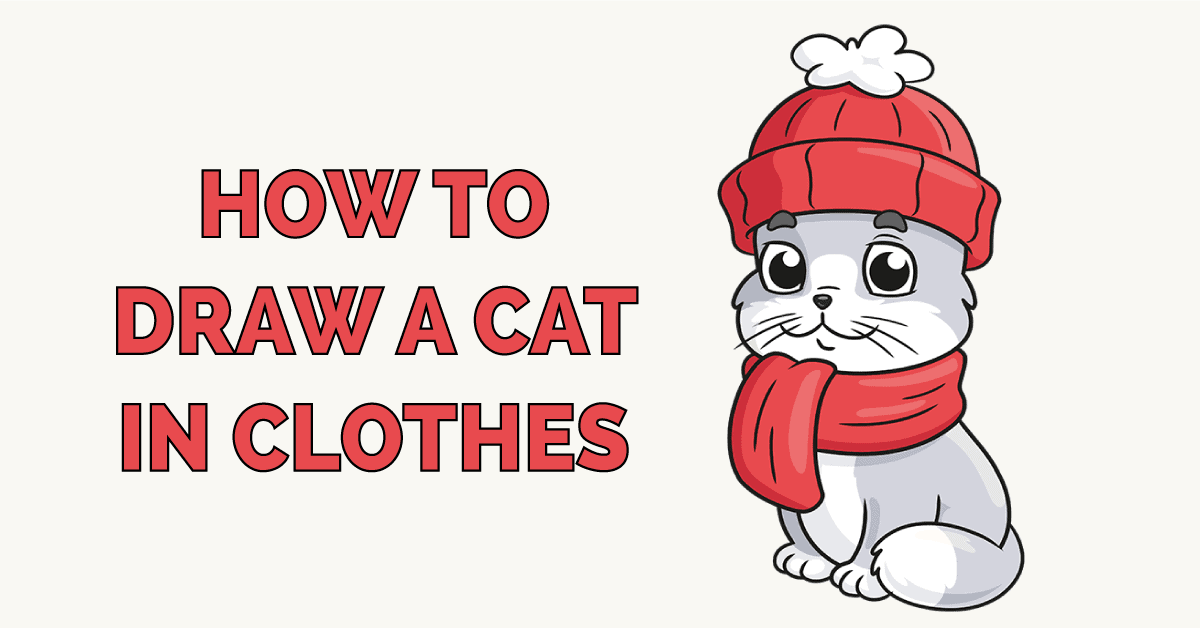 How to Draw a Cat in Clothes Featured Image