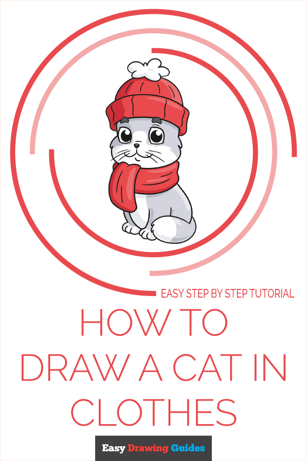 How to Draw Cat in Clothes | Share to Pinterest