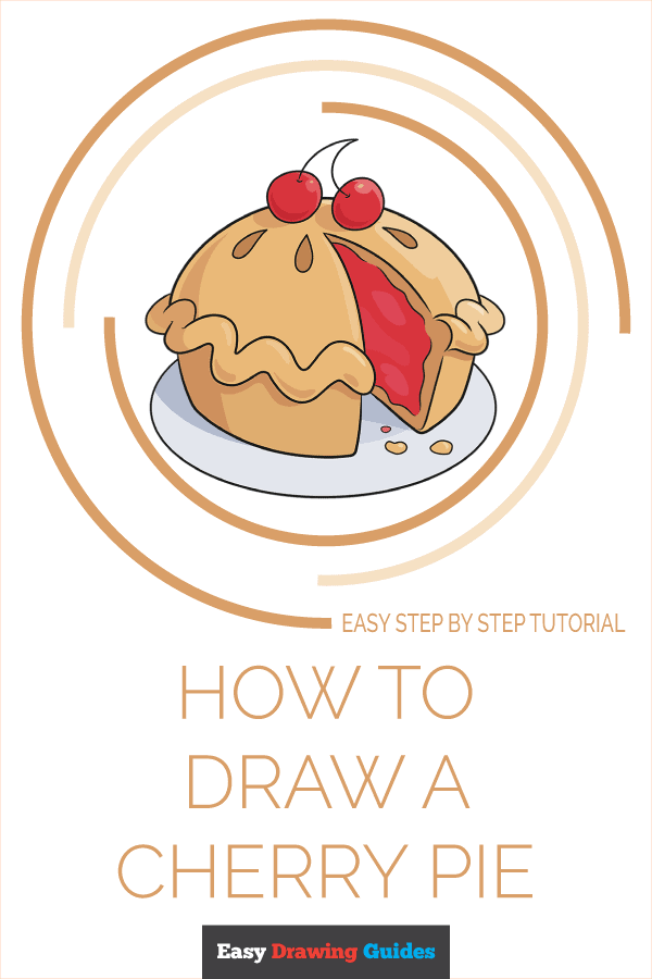 How to Draw Cherry Pie | Share to Pinterest