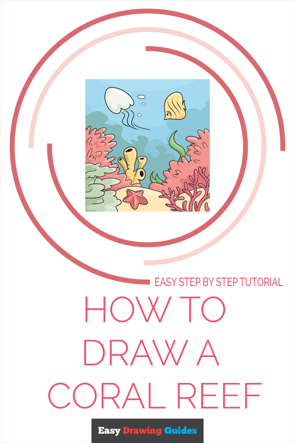 How to Draw a Coral Reef Pinterest Image