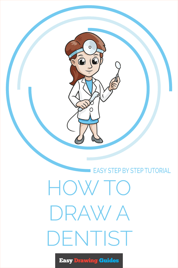 How to Draw Dentist | Share to Pinterest