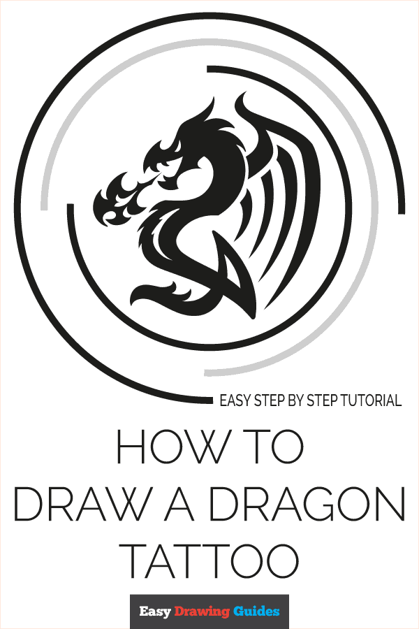 How to Draw a Dragon Tattoo Pinterest Image