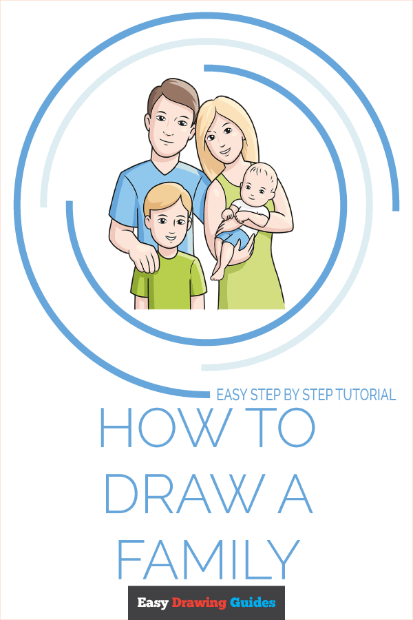 How to Draw a Family Pinterest Image