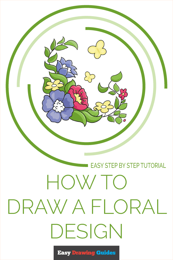 How to Draw a Floral Design Pinterest Image
