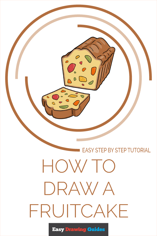How to Draw Fruitcake | Share to Pinterest