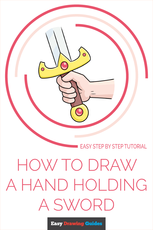 How to Draw Hand Holding a Sword | Share to Pinterest